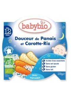 Assiette Bonne Nuit Panais Carottes et Riz Bio - Babybio