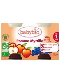 Petits Pots Fruits Pomme et Myrtille Bio - Babybio