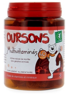 Oursons Multivitaminés - 60 oursons