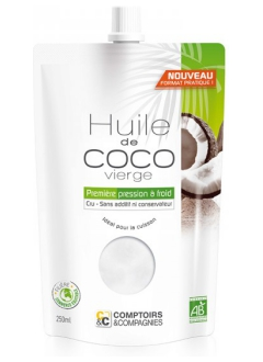 Huile de coco vierge bio - 250 ml