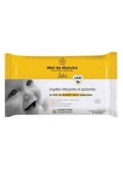Lingettes bébé au miel de manuka IAA 10+ bio