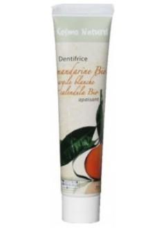 Dentifrice apaisant mandarine-argile blanche-calendula Bio
