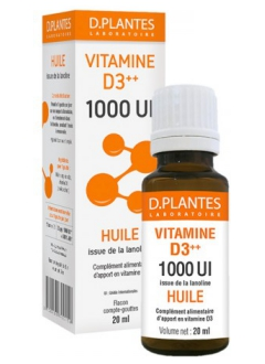 Vitamine D3++ 1000 UI Huile