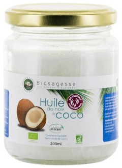 Huile de noix de coco Bio - 200 ml