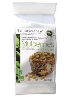 Mulberries bio mûres blanches séchées