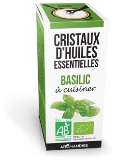 Basilic bio - Cristaux à cuisiner