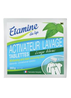 Tablettes activateur de lavage