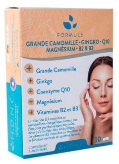 Formule Grande Camomille Ginkgo Q10 Magnésium B2 B3
