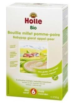 Bouillie de millet pomme-poire - sans lait