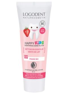 Dentifrice gel fraise bio Happy kids 2-6 ans