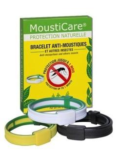Bracelet anti-moustiques blanc vert