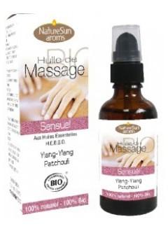 Huile de massage bio sensuel