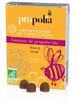 Gommes de propolis bio - Prune et Cerise