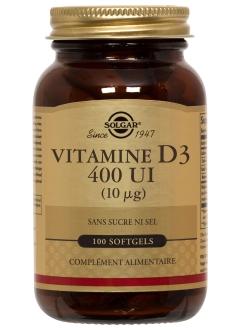 Vitamine D3 400 ui - 100 gélules
