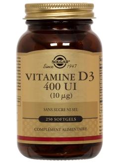 Vitamine D3 400 ui - 250 gélules