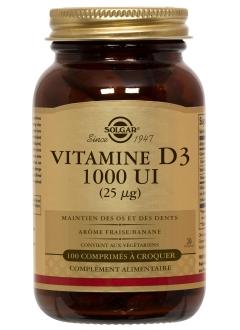 Vitamine D3 1000 ui - 100 comprimés
