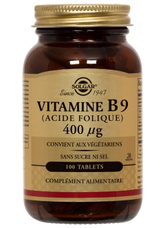 Vitamine B9 (Acide Folique) 0,4 mg