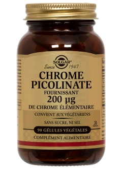 Chrome picolinate 0,2 mg - 90 gélules