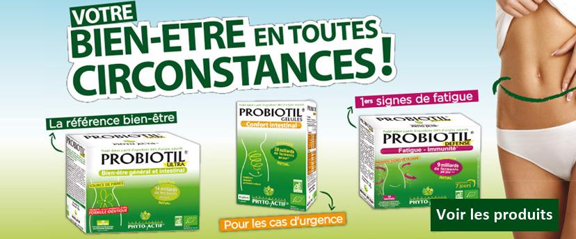 Retrouvez les probiotiques PROBIOTIL des laboratoires PHYTO ACTIF chez Origine Naturelle