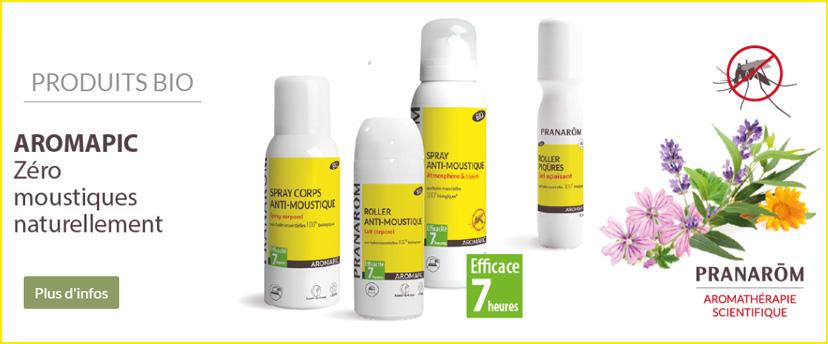 Aromapic, la gamme anti-moustiques des Laboratoires Pranarôm