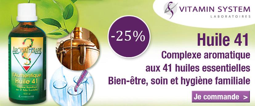 -25% sur l'huile 41 Vitamin System