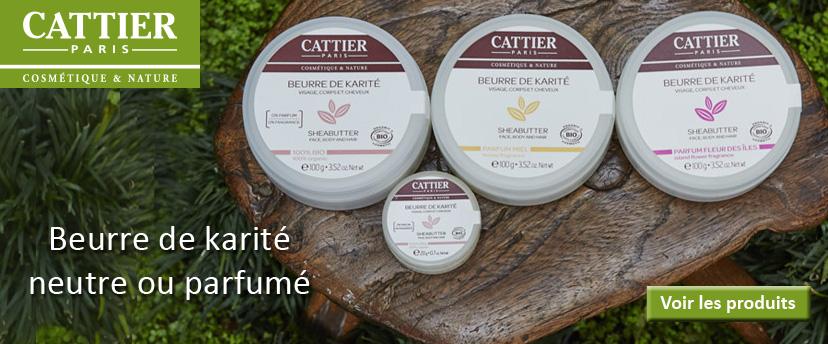 Découvrez ou redécouvrez la gamme de beurre de karité CATTIER