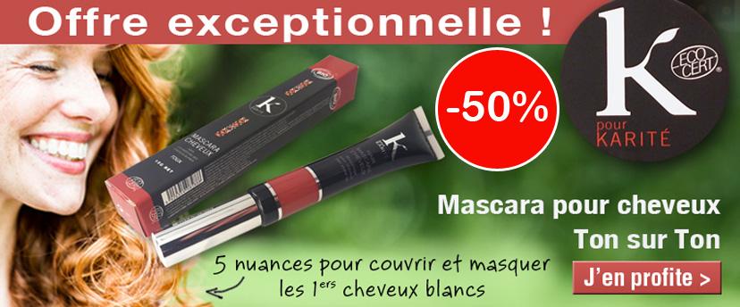 -50% sur les mascaras cheveux Kpourkarité