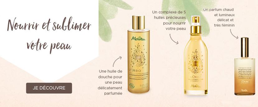 Découvrez la gamme de cosmétiques bio L'or Melvita pour nourrir et sublimer votre peau