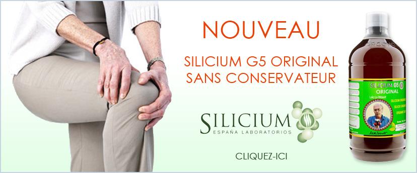 Nouveau silicium G5 Original Sans Conservateur de Silicium Espana selon la formule original de Loïc le Ribault