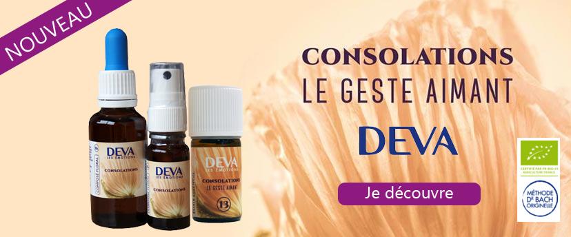 Elixir floral et Elixir Essentiel Consolations des laboratoires DEVA, le geste aimant !