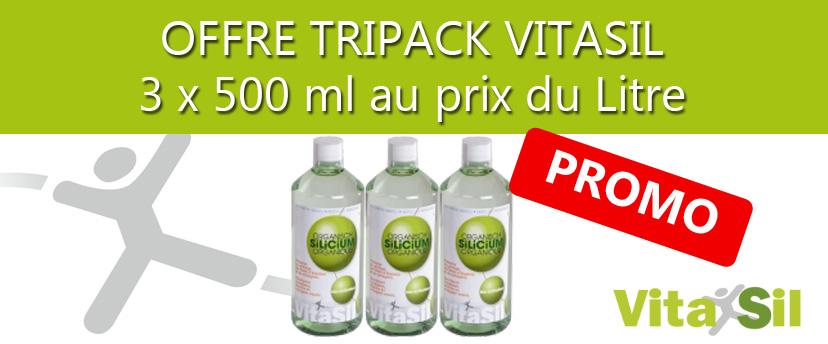 Tripack Vitasil, 1,5 litres au prix du litre