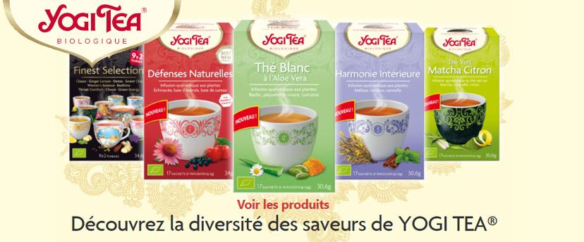 Découvrez la diversité des saveurs YOGI TEA