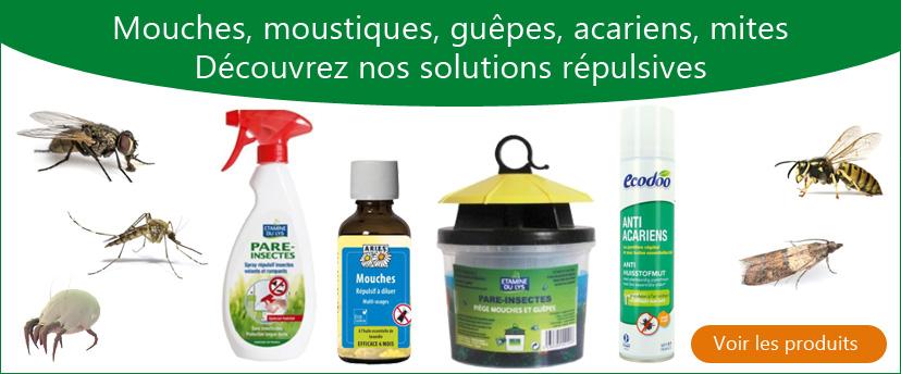 Découvrez nos solutions natuelles répulsives anti insectes