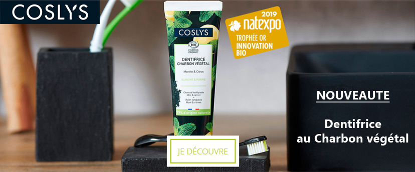 NOUVEAUTE COSLYS : Dentifrice au Charbon Végétal