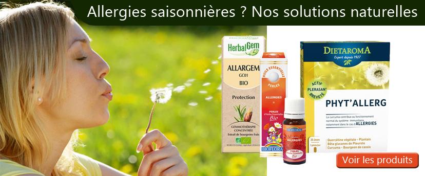 Allergies nos solutions naturelles