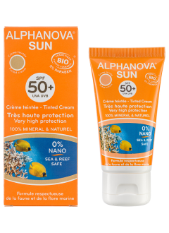 Crème solaire teintée medium BIO SPF 50 +