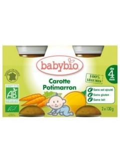 Petits pots Potimarron et Carotte