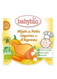 Assiette Menu Petits Légumes et Agneau Bio - Babybio