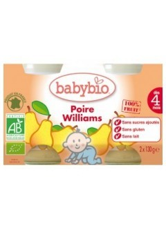 Petits Pots Fruits Poire Bio - Babybio
