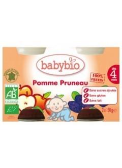 Petits Pots Fruits Pomme et Pruneau Bio - Babybio