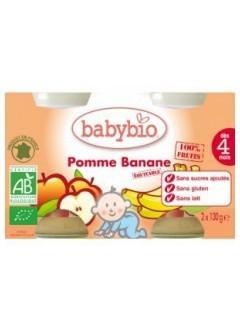 Petits Pots Fruits Pomme et Banane Bio - Babybio