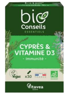 Cyprès et Vitamine D3