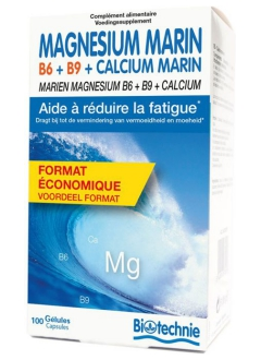 Magnésium Marin B6 B9 Calcium marin