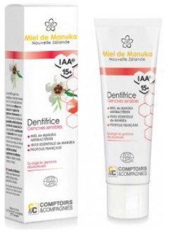 Dentifrice gencives sensibles miel de manuka IAA15+