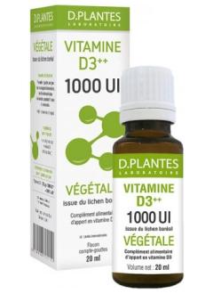 Vitamine D3++ 1000 UI Végétale