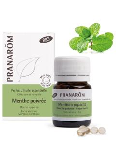 Perles d'huile essentielle Menthe poivrée Bio
