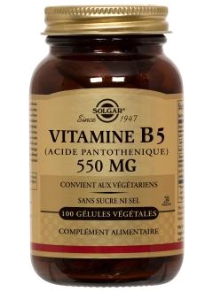 Vitamine B5 (Acide Pantothénique) 550 mg
